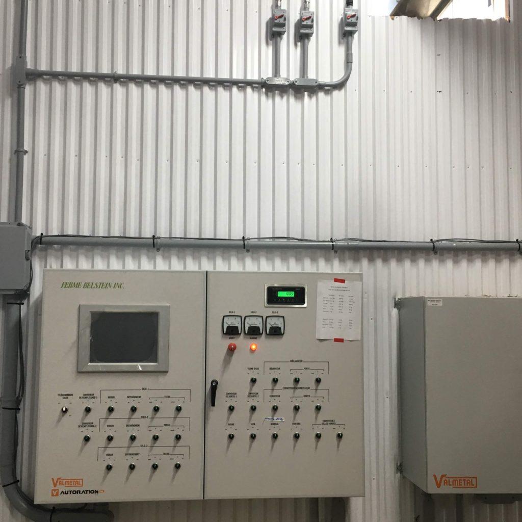 Panneau de contrôle pour mélangeur (RTM)