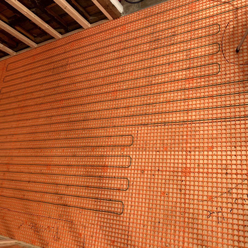 Plancher chauffant sous céramique de marque Flexsterm